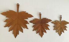 Dekohänger Blätter aus Metall 2 tlg Ahorn Herbstdekoration