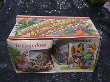 Wonderful Springdale Grandad & Grandma Merry Christmas China Mugs