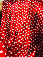 """Polka Dot Tablecloth Drapery Fabric Printed Satin 60"""" 100% Polyester By The Yard"""