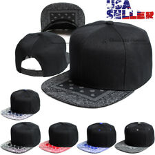 Bandana Baseball Cap Snapback Adjustable Hat Flat Hip Hop Blank Plain Men Hats