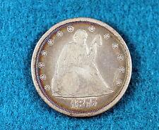 ESTATE FIND 1875-CC Seated Liberty Twenty Cent Piece!! #C9902