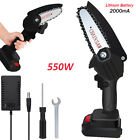 Black Wood Cutter Mini Cordless Electric Chainsaw 550W One Hand Portable Handle