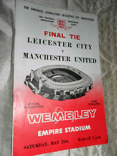 1963 FA CUP FINAL MANCHESTER UNITED V LEICESTER CITY