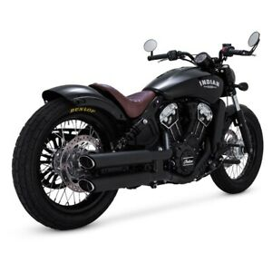 """Vance & Hines 3"""" Twin Slash Slip-On Mufflers For 15-18 Indian Scout"""