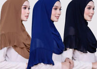 Fashion Women Shawls Wrap Hijab Headscarf Muslim  Hijab Cap Islamic Long Scarf