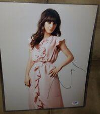 Zooey Deschanel Signed 11x14 Photo Autographed COA PSA/DNA Q74952  New Girl Elf