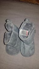 Next Baby Boy Grey Soft Boots with Faux Fur Lining - Age 0-3 Months