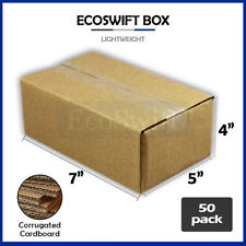 50 7x5x4 Cardboard Packing Mailing Moving Shipping Boxes Corrugated Box Cartons