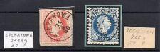 FRANCOBOLLI 1867 AUSTRIA 5+10 KR LEGIESTON B/5498