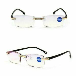 2pcs Mens Blue Light Blocking Reading Glasses Filter 1.0 1.5 2.0 2.5 3.0 3.5 4.0