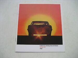 Pontiac GTO Prospekt Brochure 1964