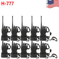 10xRetevis H777 Walkie Talkie UHF:400-470MHz 16CH TOT CTCSS/DCS Two-Way Radio US
