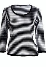 Cotton Blend Striped Tops & Shirts Plus Size for Women