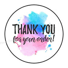 30 Thank You For Your Order Color Splash Envelope Seals Labels Stickers 1.5""
