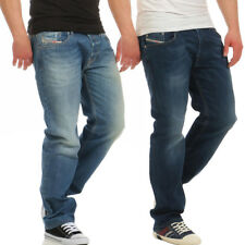 Diesel Herren Jeans Waykee Regular Straight Dezenter Used Look Blau L30 L32 L34
