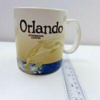 Starbucks 2015 You Are Here Collection Orlando, FL 14 Oz Coffee Mug Tea Cup