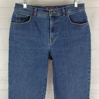 Gloria Vanderbilt Amanda Womens Sz 10L Stretch Med Wash High Tapered Mom Jeans