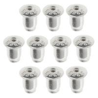 10 teilig Ohrring Stopper Verschluss Stöpsel Ohrstecker Verschlüsse Ohrmuttern
