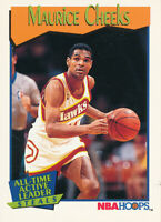 Maurice Cheeks 1991-92 NBA Hoops #533 Atlanta Hawks Basketball Card