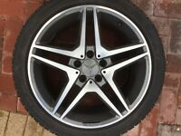 "MERCEDES BENZ W219 2004-2010 CLS CLS55 AMG 18"" SPARE ALLOY WHEEL & TYRE NOT OEM"