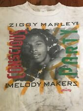 Vintage Ziggy Marley Melody Makers Conscious Party Tour Distressed T-shirt - XL