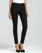 J BRAND 23110 MARIA HIGH RISE SKINNY STRETCH JEANS IN BLACK (HEWSON) Size 25