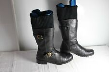 Bottes Chaussettes  Cuir Noir Made In Italie   T 37 TBE