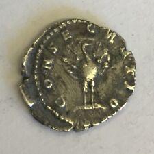 """Roman Silver Denarius Coin Faustina """"Consecratio Facing Peacock"""""""