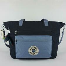 KIPLING ISAAC Nylon Travel Carryall Tote Bag True Blue Bold Block