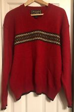 Vintage Abercrombie & Fitch Mens M Pullover Sweater Wool Red Outdoor