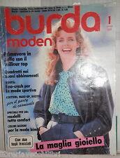 BURDA MODEN 1 GENNAIO 1988 SENZA CARTAMODELLI TESTO IN TEDESCO MODA FEMMINILE
