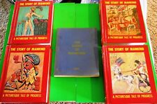 STORY OF MANKIND HISTORY Books Set 4 Vols + Index Weighty History Home School