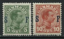 Denmark 1917 Military stamps set of 2 mint o.g. hinged