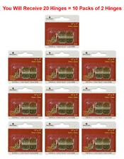 """20x Brainerd Hinge Solid Brass 18XC Small Door Cabinet 16mm x 25mm 5/8""""x1"""""""