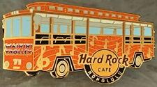 Hard Rock Cafe HONOLULU 2012 Orange Waikiki Trolley Bus PIN - LE 300! HRC #69225