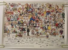Original Vintage Poster Cartoon Superhero Comic Hero Collage 1980's For The Kids
