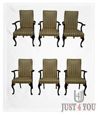 Quality Set of 6 Mahogany Dining Arm Chairs