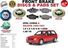 Para Opel Corsa A Saloon 82-93 Frente Resistente Freno Discos Set + Pastillas