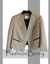 Final Sale! New Bar III Black Combo  Women Blazer Size L. Orig. $129