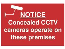 Scan - Notice Concealed CCTV Cameras Operate On These Premises - PVC 300 x 200mm