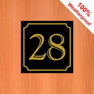 "3"" House number sticker Weatherproof self-adhesive vinyl stickers all numbers"