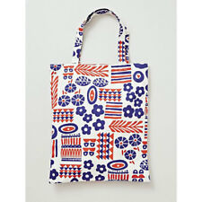 NEW Kukka Finnish Red and Blue Flower Floral Canvas Reusable Shopping Tote Bag