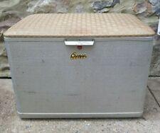 Vintage Mid Century Cronstroms Cronco Aluminum Cooler Padded Lid Seat Ice Chest