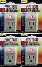 3 pack single outlet surge protector with power suppressor 270 joules