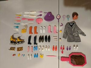 Vintage Barbie Accessories 1968 And Up, 73 Items