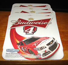 KEVIN HARVICK #4 BUDWEISER BEER COASTERS NASCAR CHAMPION SET OF 30 NEW