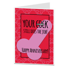 Wedding Relationship Anniversary Card For Husband Boyfriend Funny Rude Cheeky