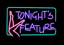 "Tonights Feature Garage Party Club Beer Bar Pub Dance Neon Sign Light 16""X12"""