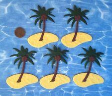 5 palm tree Desert Island tropical Hawaii Handmade Mulberry Paper scrapbooking