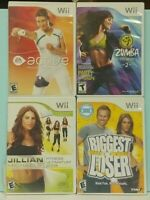 Biggest Loser, EA Active 1, Jillian 2009, Zumba Fitness Nintendo Wii / Wii U Lot
